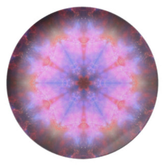 Luminous Flower Mandala Dinner Plate