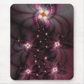 Luminous Flowers Mouse Pad