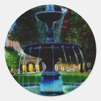 Luminous Fountain Classic Round Sticker