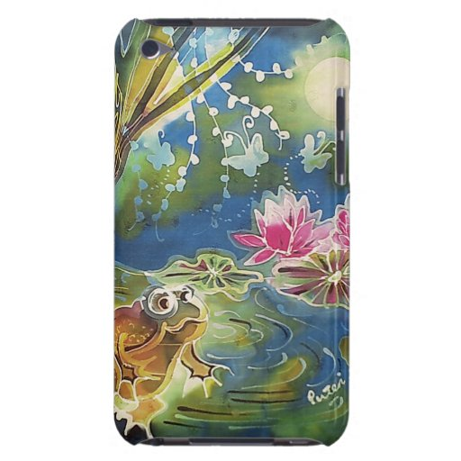 Luminous Frogs Silk Art Painting Barely There iPod Cases