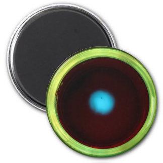Luminous glass eye magnet