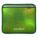 Luminous green sleeves for iPads