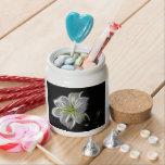 Luminous Lily Design Candy Jar
