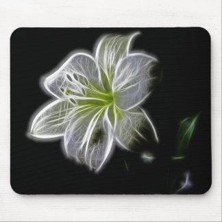 Luminous Lily Design Mouse Pad
