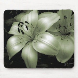Luminous Lily Mouse Pads