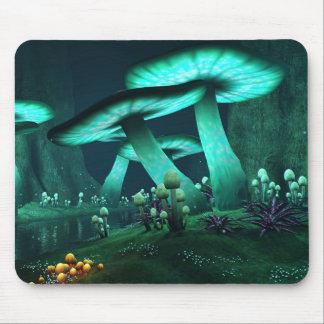 Luminous Mushrooms Mouse Pad