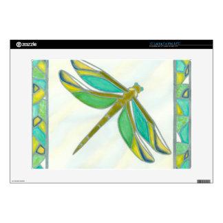 "Luminous Pastel Dragonfly by Vanna Lam 15"" Laptop Skin"