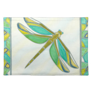 Luminous Pastel Dragonfly by Vanna Lam Cloth Placemat