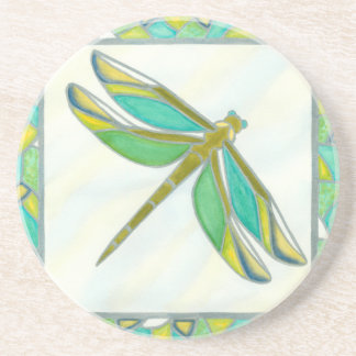 Luminous Pastel Dragonfly by Vanna Lam Drink Coaster