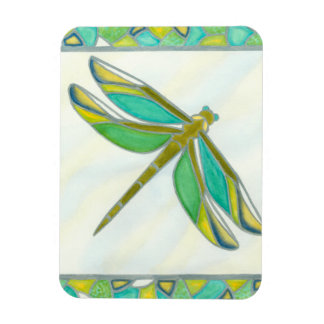 Luminous Pastel Dragonfly by Vanna Lam Magnet