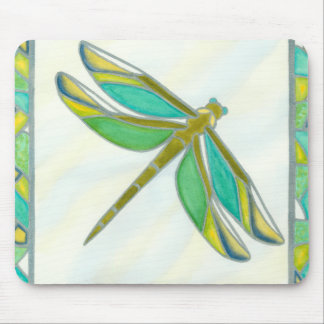 Luminous Pastel Dragonfly by Vanna Lam Mouse Pad