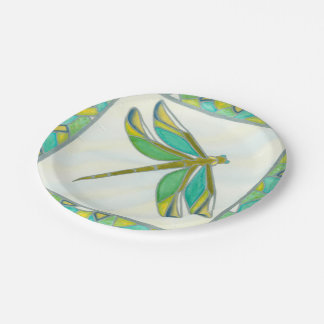 Luminous Pastel Dragonfly by Vanna Lam Paper Plate