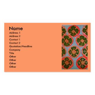 luminous Persimmons Business Card Template