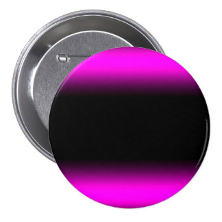 Luminous Pinkish Purple and Black Ombre 3 Inch Round Button