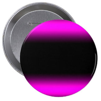 Luminous Pinkish Purple and Black Ombre 4 Inch Round Button