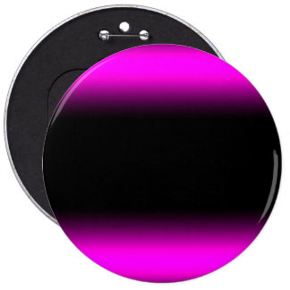 Luminous Pinkish Purple and Black Ombre 6 Inch Round Button