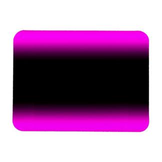 Luminous Pinkish Purple and Black Ombre Magnet