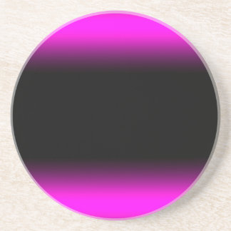 Luminous Pinkish Purple and Black Ombre Sandstone Coaster