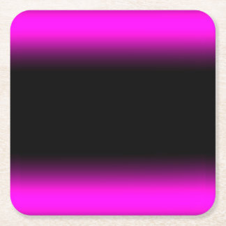 Luminous Pinkish Purple and Black Ombre Square Paper Coaster