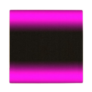 Luminous Pinkish Purple and Black Ombre Wood Coaster