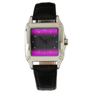 Luminous Pinkish Purple and Black Ombre Wrist Watch