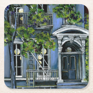 Luminous Shere from Within, New York City Square Paper Coaster