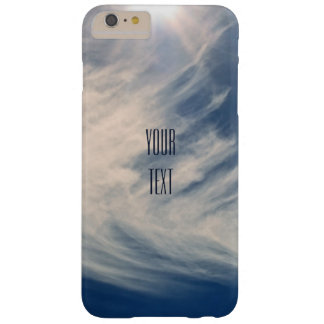 Luminous Sun and Wispy Clouds Personalize Barely There iPhone 6 Plus Case
