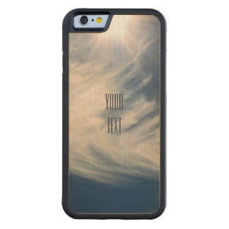 Luminous Sun and Wispy Clouds Personalize Carved® Maple iPhone 6 Bumper Case