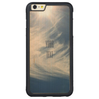 Luminous Sun and Wispy Clouds Personalize Carved® Maple iPhone 6 Plus Bumper