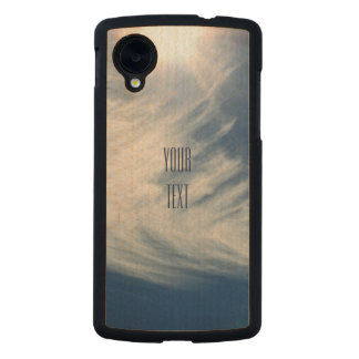 Luminous Sun and Wispy Clouds Personalize Carved® Maple Nexus 5 Case