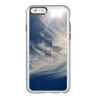 Luminous Sun and Wispy Clouds Personalize Incipio Feather® Shine iPhone 6 Case