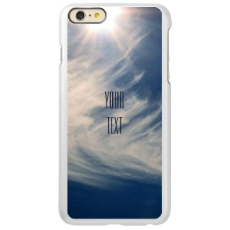 Luminous Sun and Wispy Clouds Personalize Incipio Feather® Shine iPhone 6 Plus Case