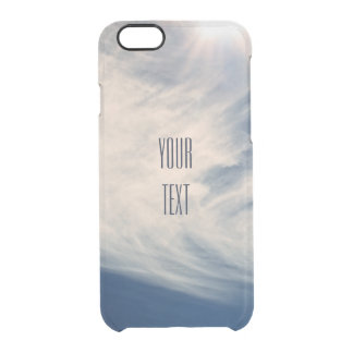 Luminous Sun and Wispy Clouds Personalize Uncommon Clearly™ Deflector iPhone 6 Case