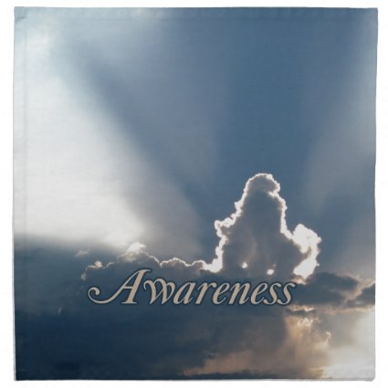 Luminous Sun Rays: 'Awareness' reminder Napkins