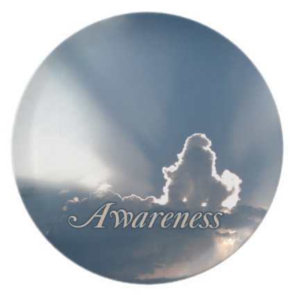 Luminous Sun Rays: 'Awareness' reminder Dinner Plate