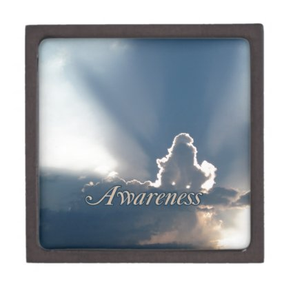 Luminous Sun Rays: 'Awareness' reminder Premium Jewelry Boxes