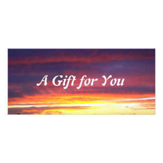 Luminous Sunset gift certificate template
