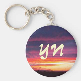 Luminous Sunset Keychain