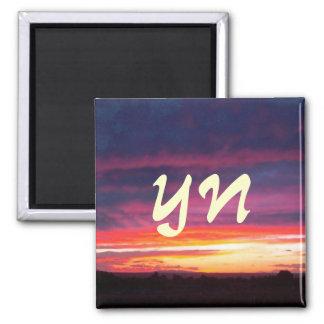 Luminous Sunset Fridge Magnet