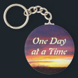 "Luminous Sunset ODAT Keychain<br><div class=""desc"">One Day at a Time: words of wisdom that are beautifully illustrated with this photograph of a luminous New Mexico sunset!</div>"