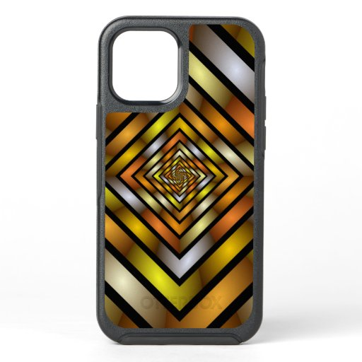 Luminous Tunnel Colorful Graphic Fractal Pattern OtterBox Symmetry iPhone 12 Case