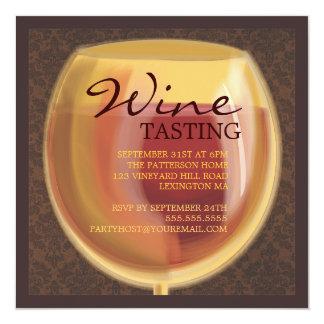 Luminous Wine Glass Wine Tasting Party Invitation