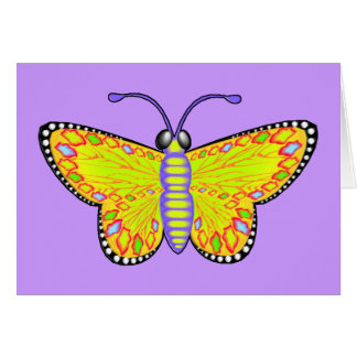 Luminous Yellow Butterfly Card