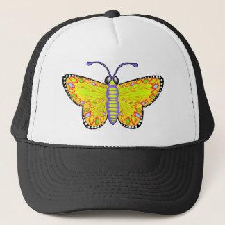 Luminous Yellow Butterfly Trucker Hat