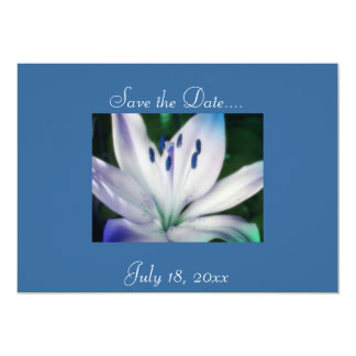 Lumious Lily Save the Date 5x7 Paper Invitation Card