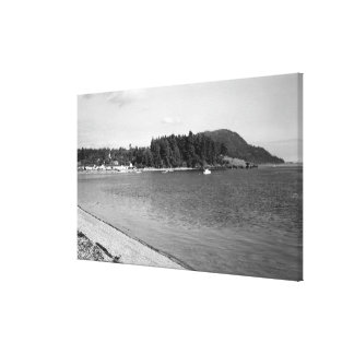 Lummi Island, WA - View of Lago Bay Photograph Canvas Print