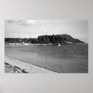 Lummi Island, WA - View of Lago Bay Photograph Poster