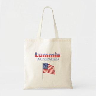 Lummis para la bandera americana patriótica del co bolsas de mano