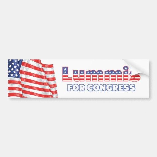 Lummis para la bandera americana patriótica del co pegatina para auto