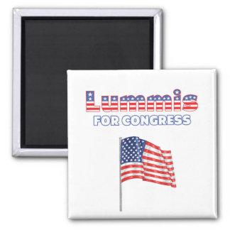 Lummis para la bandera americana patriótica del co imán de frigorifico